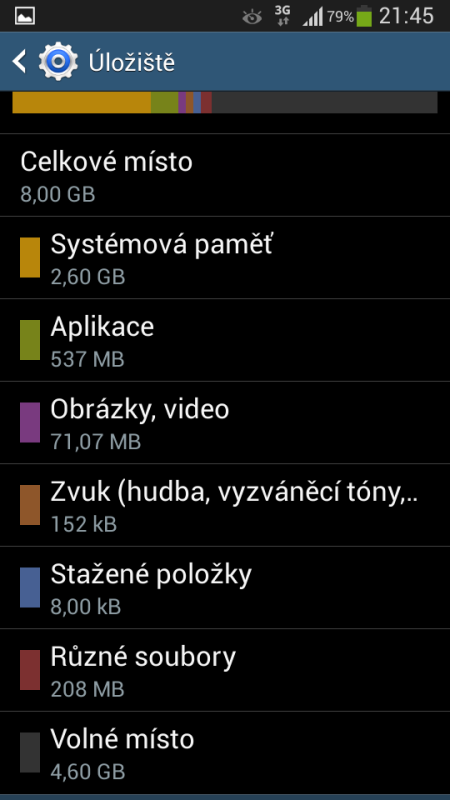 Samsung Galaxy S4 mini - Storage