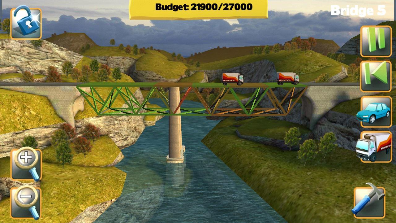 Bridge Constructor - Postav si svůj most na Androidu