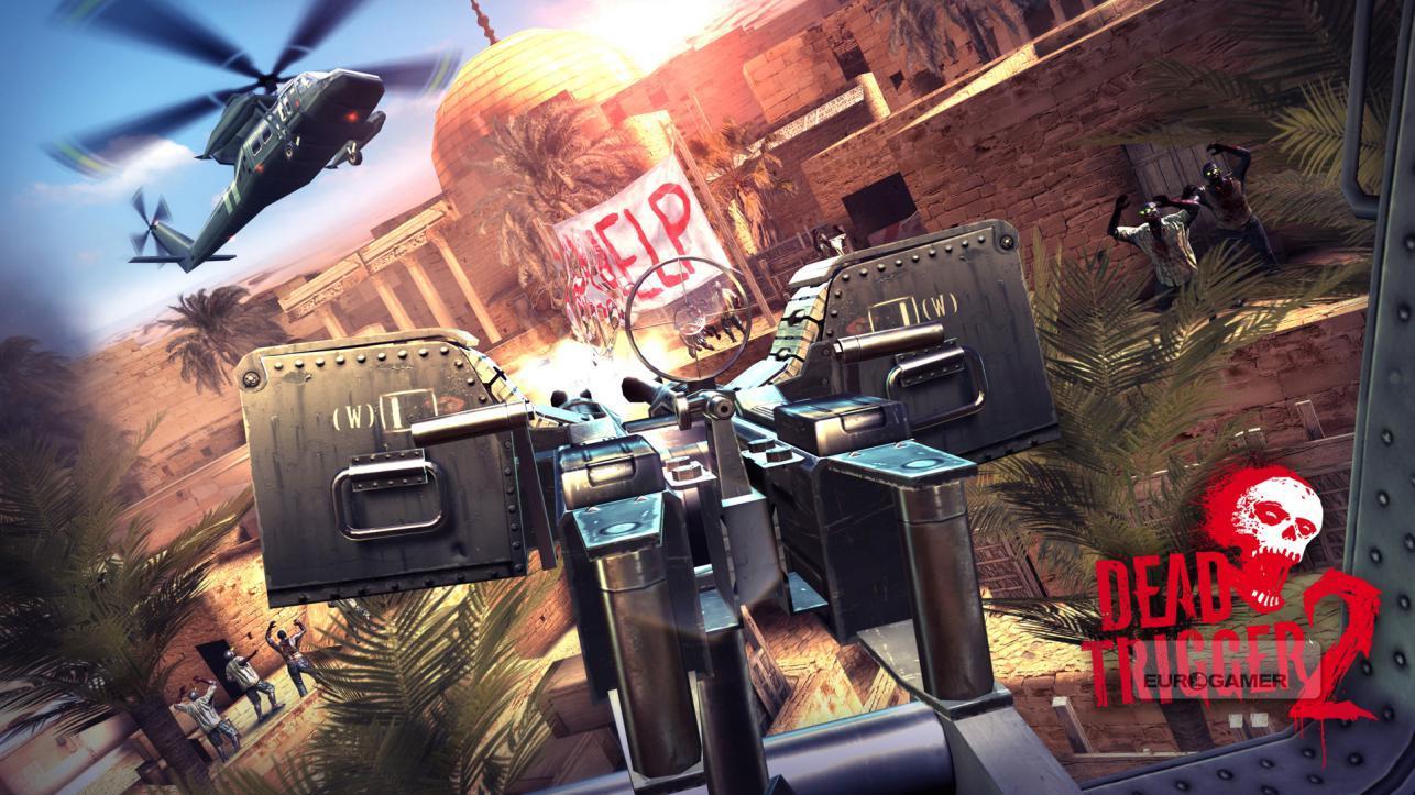 Dead Trigger 2 pro android tablety telefony - pohled z vrtulníku