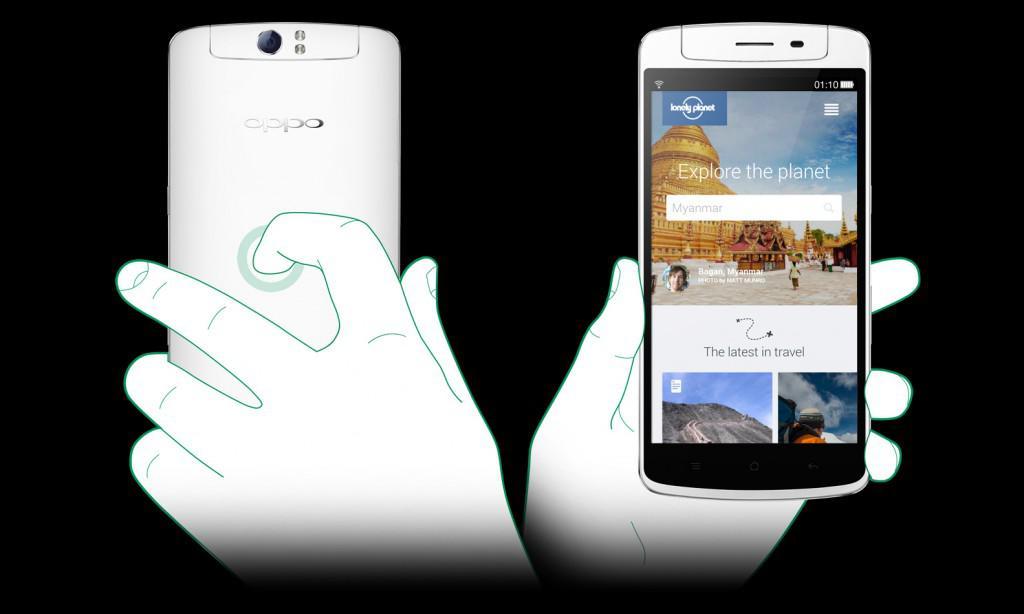 OPPO N1 funkce O-Touch touchpad na zadním panelu