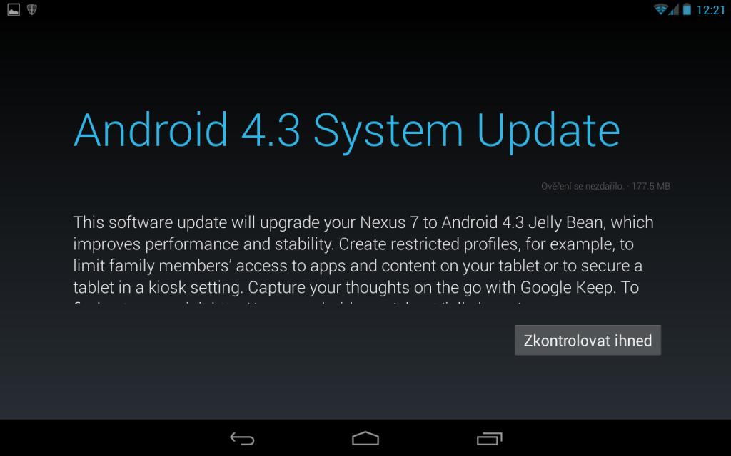 Jak aktualizovat android - aktualizace android tabletu