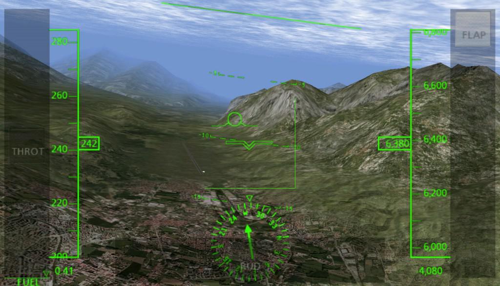 X-plane 9 letecký simulátor na android tabletu google nexus 7