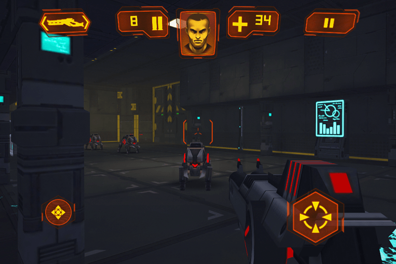 FPS Hra na Android Neon Shadow