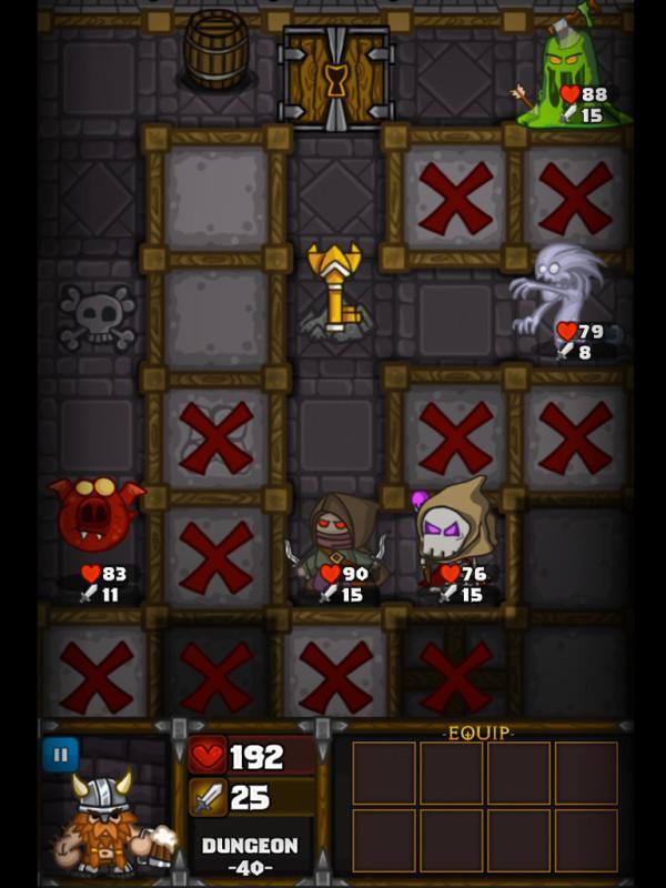 Taktická RPG hra Dungelot na Android Tablety a telefony