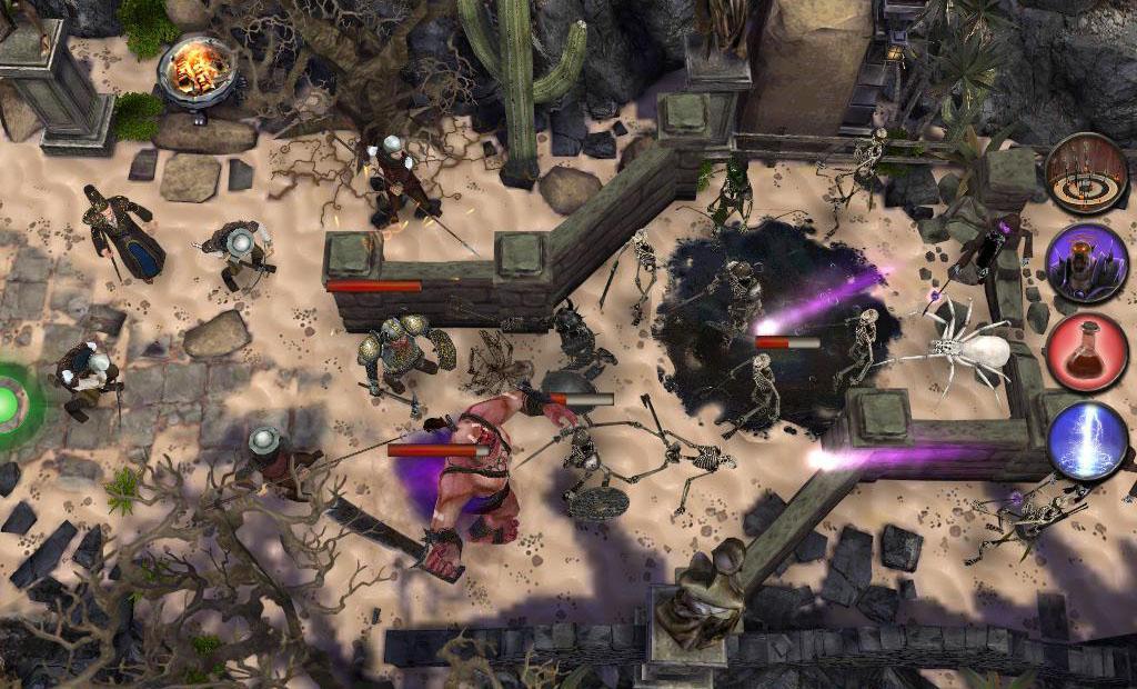 Akční RPG Diablovka Dark Frontier s prvky Tower Defense her