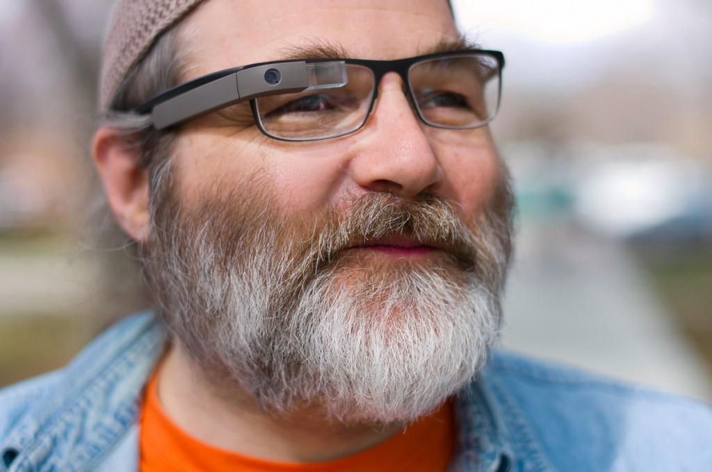 Brýle Google Glass samotný modul na vlastní rámeček