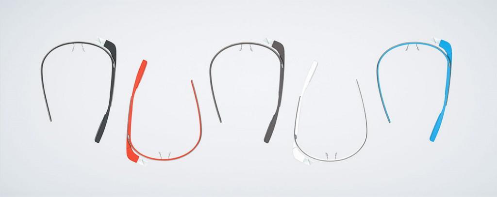 Brýle Google Glass vzhled a barevné varianty