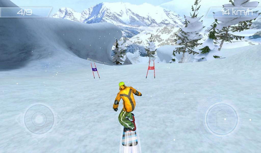 Snowstorm sportovní snowboard hra pro android tablet a telefon