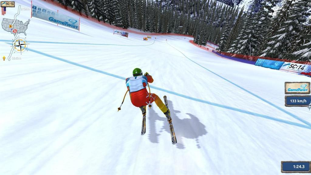 Hra Ski Challenge 14 je sportovním simulátorem lyžování pro Android