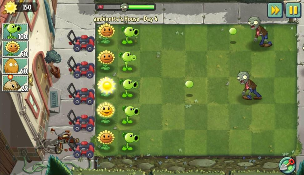 Hra pro Android Plants vs Zombies
