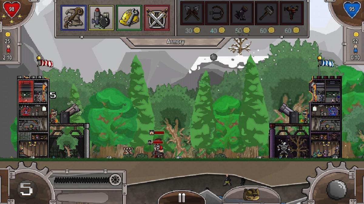 Akční artilery hra Cannon Crasha