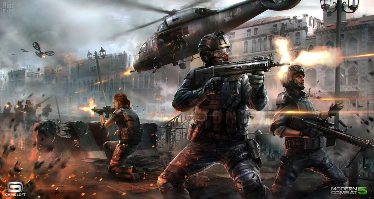 Android hra Modern Combat 5 Blackout