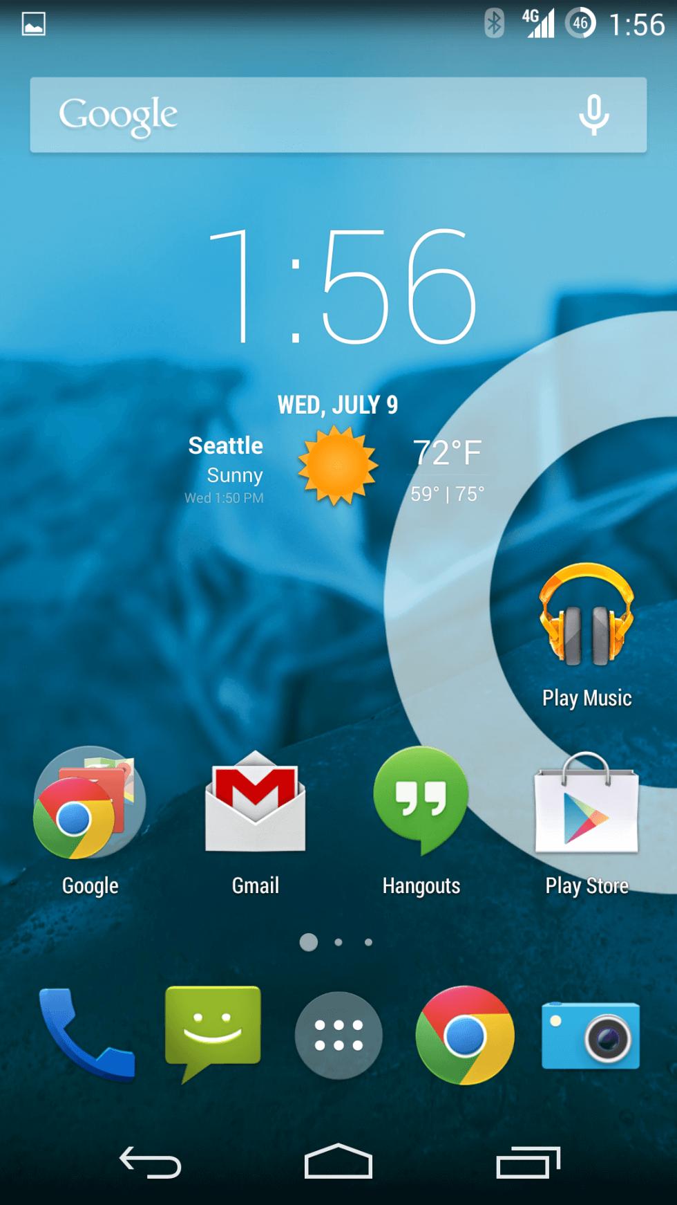 A na závěr ještě jednou Home obrazovka OnePlus One