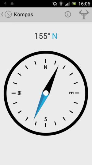 Android aplikace Handy Tools - Kompas