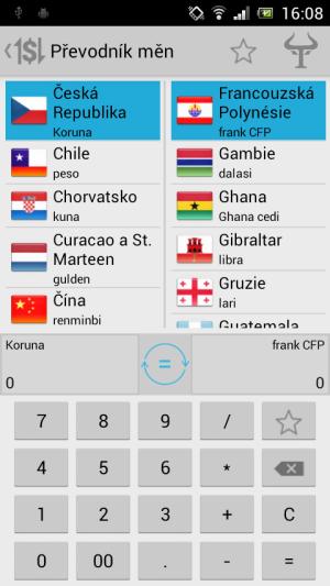 Android aplikace Handy Tools umí převádět ceny dle aktuálního kurzu měn