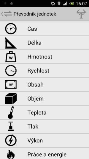 Handy Tools - převody délky, hmotnosti, teploty, tlaku