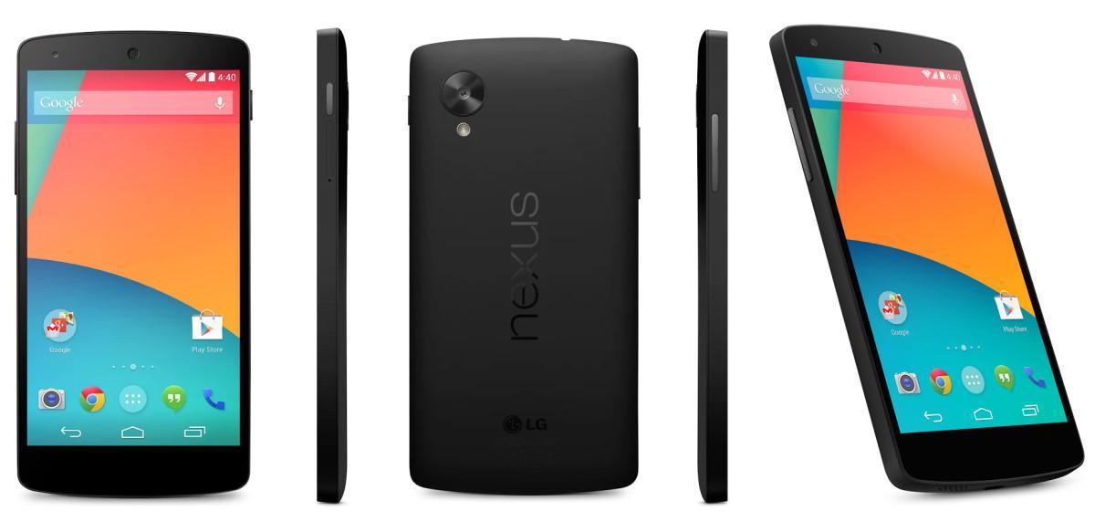 Google Nexus 5 patří s 2GB RAM NFC a FullHD displejem mezi nejžádanější telefony