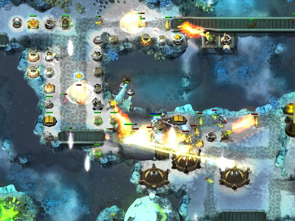 Android Tower Defense hra Sentinel 4 Dark Star