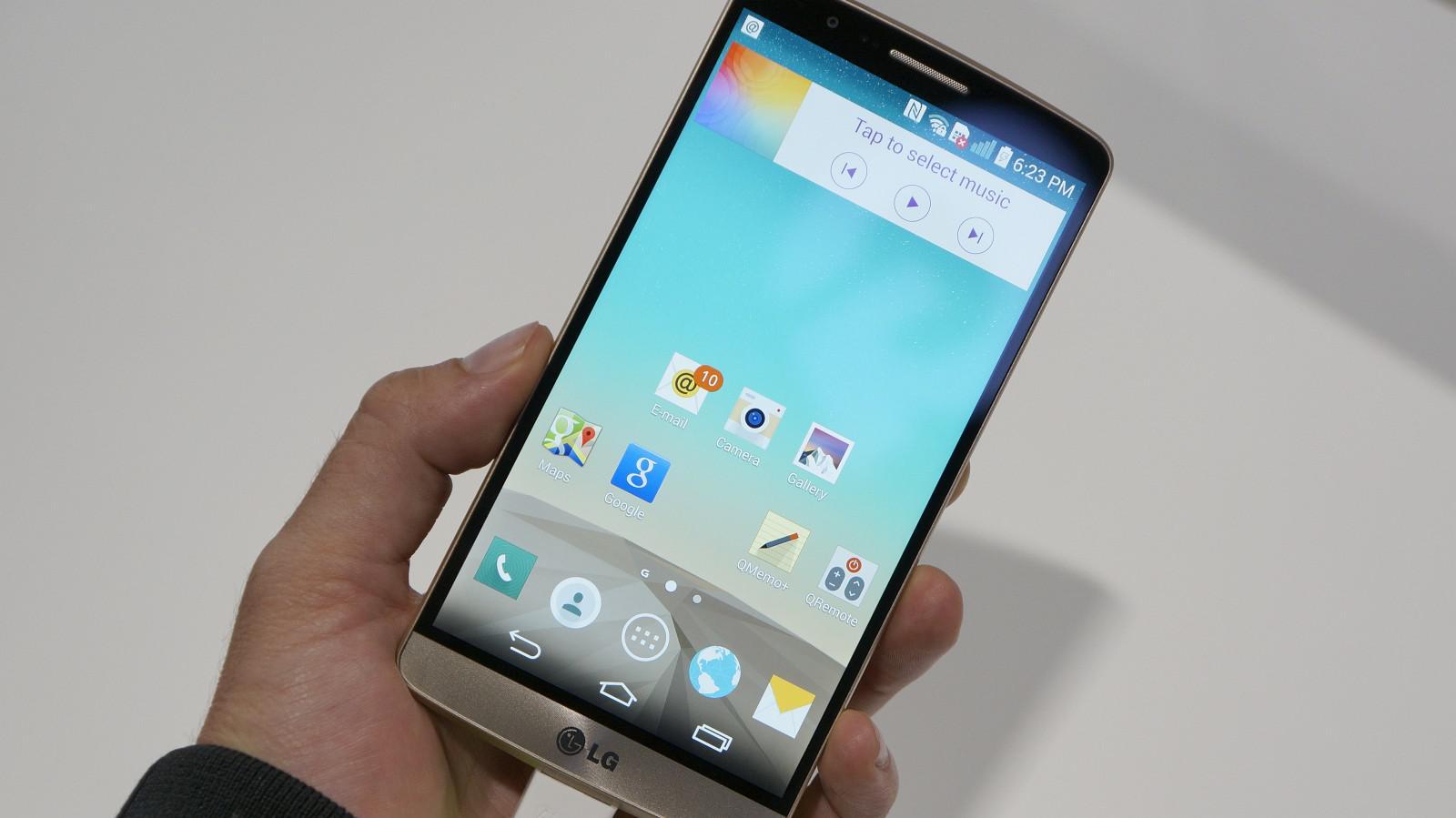 LG G3 zepředu