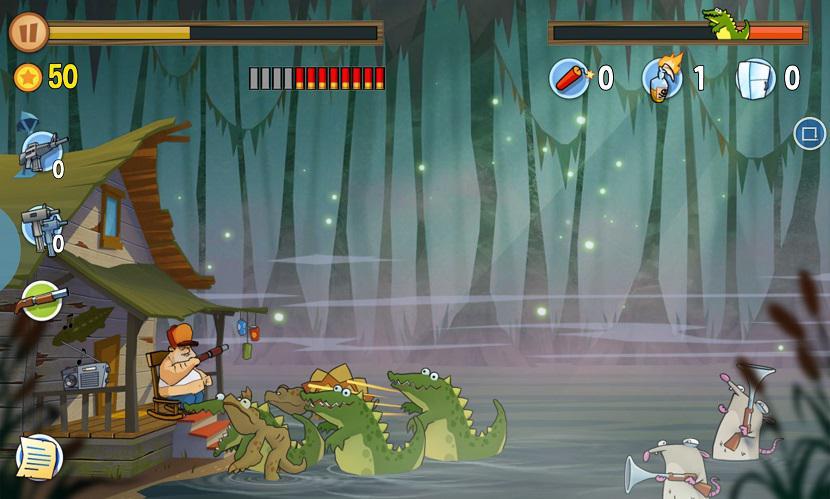 Swamp Attack  je akční střílečka na android