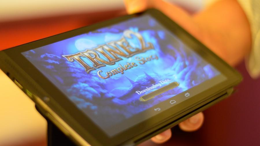 Nvidia Shield tablet - pohled na displej