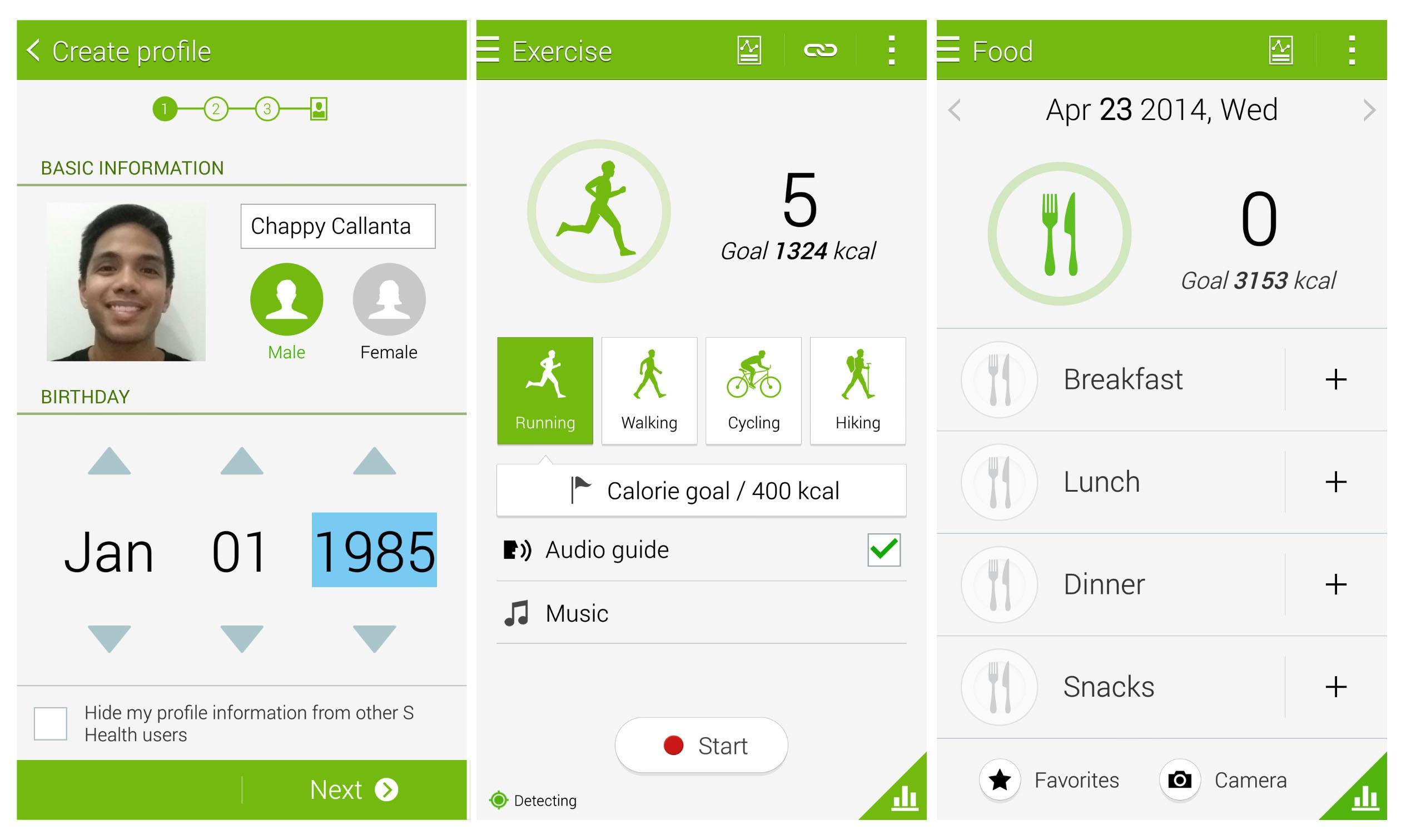 Galaxy S Health