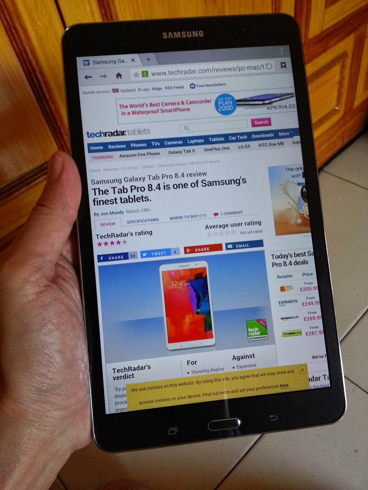 Galaxy S8.4 internet
