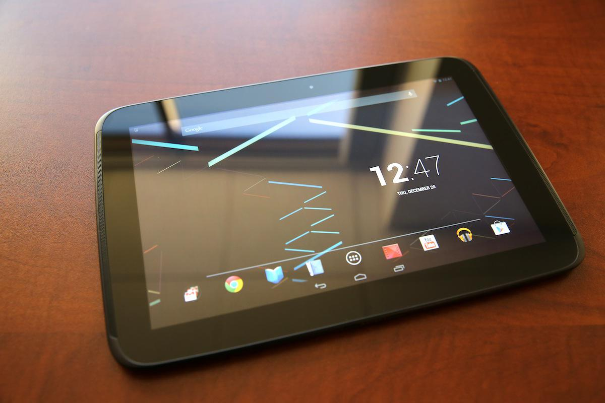 Nexus 10 displej 2