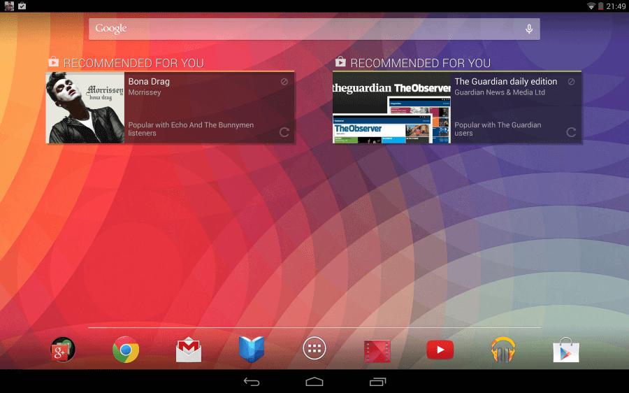 Nexus 10 systém