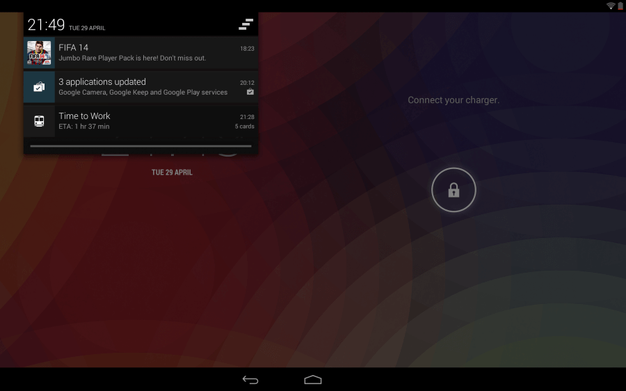 Nexus 10 zamykací obrazovka