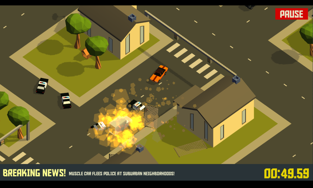 Pako Car Chase Simulator - Honičky s policií na Android telefony