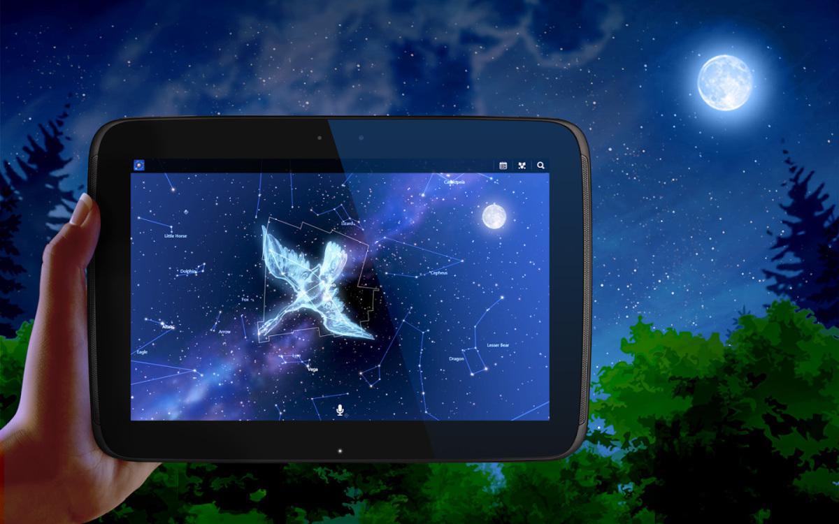 Planetárium Stellarium Mobile Sky Map a Star Chart Infinite - android aplikace pro pozorování hvězdné oblohy