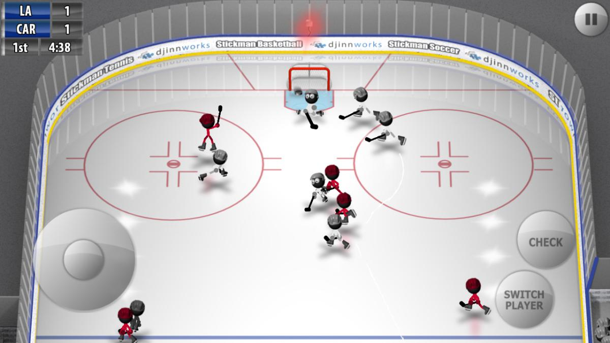 Stickman Ice Hockey je povedený hokej na Android