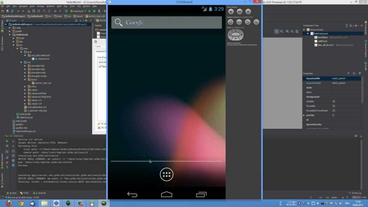 Vývojové prostředí a Android Virtual Device