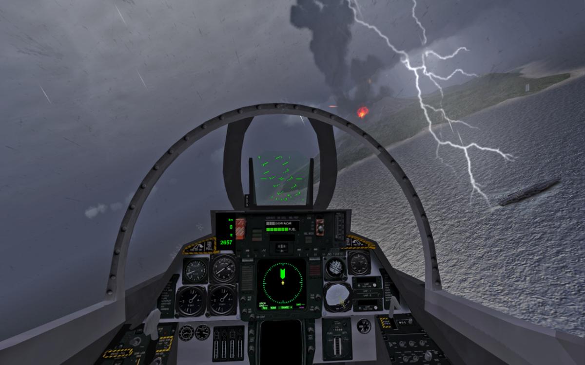 F18 Carrier Landing II - náročná simulace přistávání na letadlových lodí se stíhačkami
