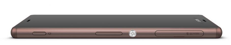 Mobil Sony Xperia Z3 z boku