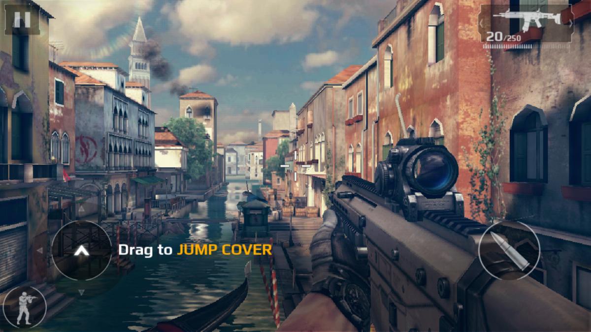 Modern Combat 5 Blackout - současná moderní válečná hra plná akce