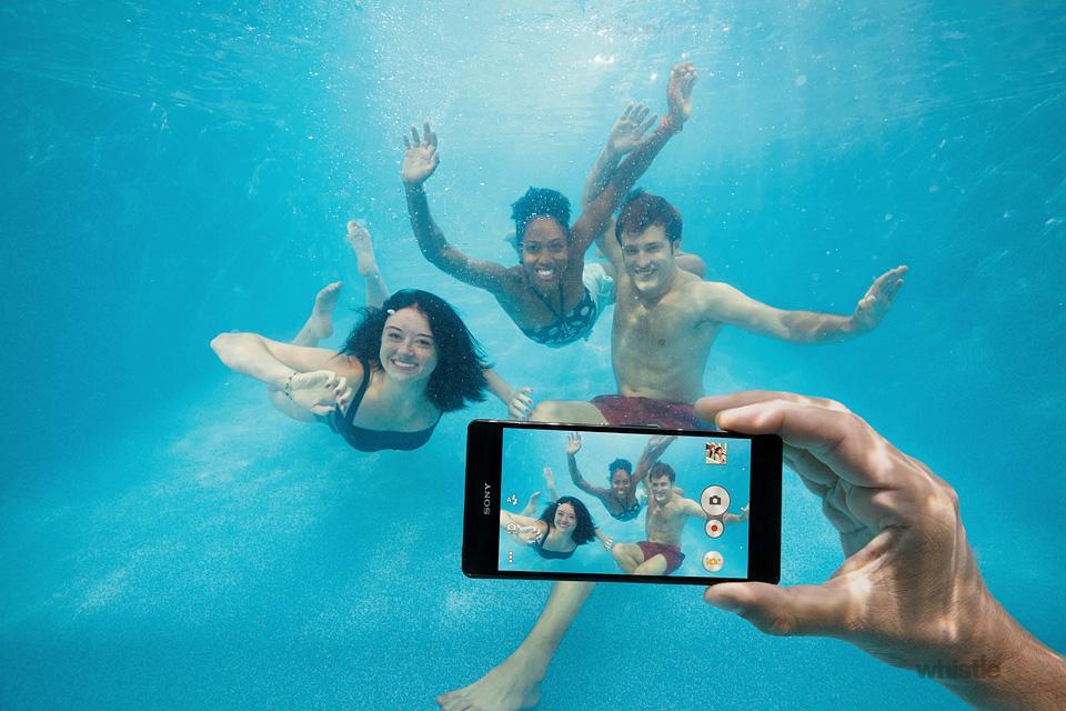 Sony Xperia Z3 pod vodou