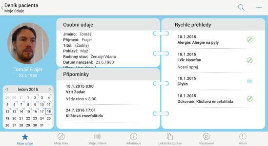 02 - Denik pacienta - karta pacienta