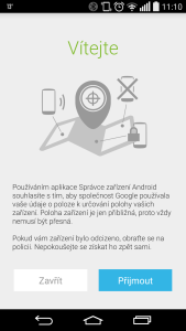 07 - Android Device Manager - uvodni informace