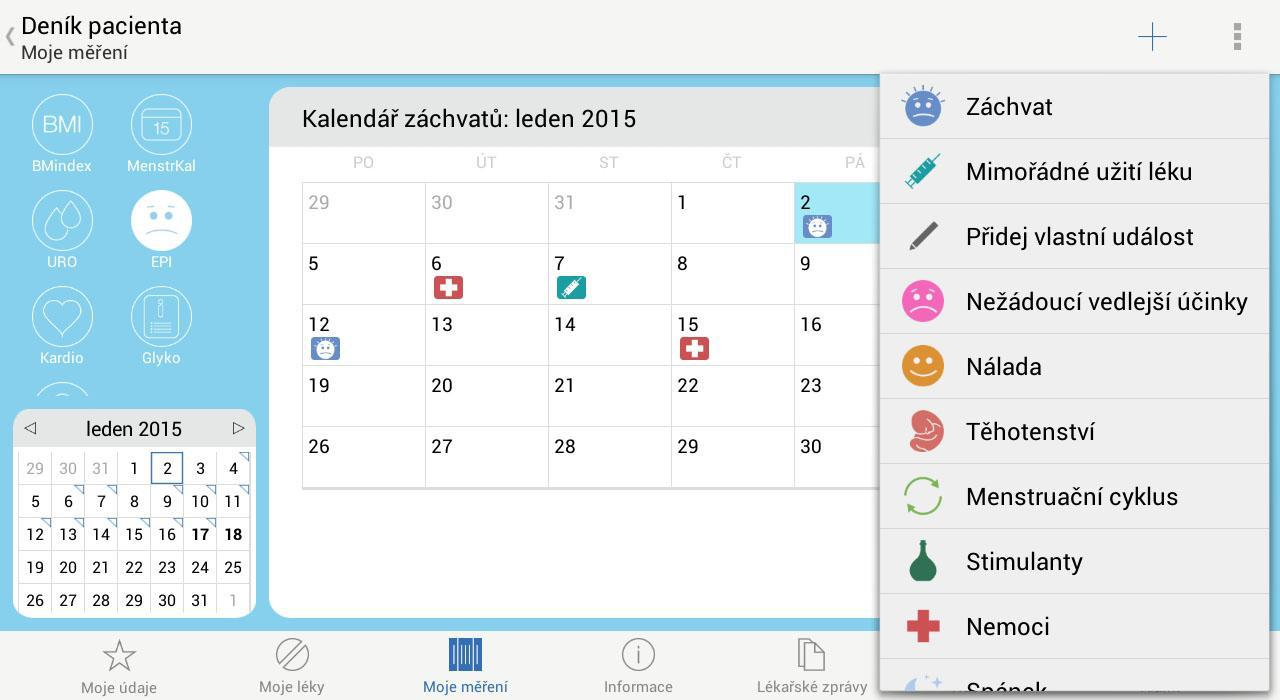 07 - Denik pacienta - Kalendar epileptickych zachvatu