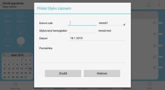 12 - Denik pacienta - novy zaznam glykemickeho profilu