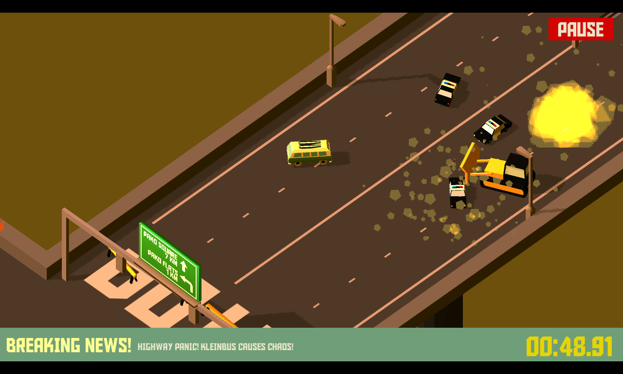 Android hra Pako Car Chase Simulator vas postavi do role zlocince