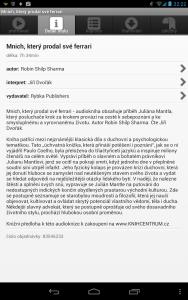 Aplikace Audioteka - Detail knihy