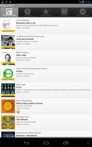 Mobilni aplikace audioteka zdarma ke stazeni