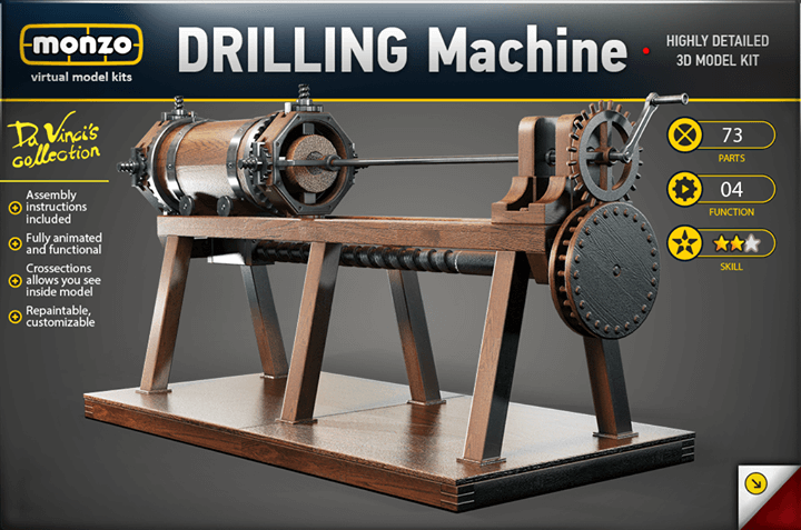 Virtualni model drilling machine Monzo