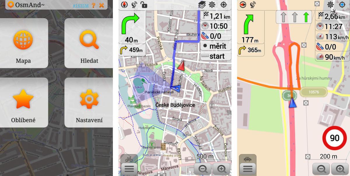 OsmAnd společně s OpenAndroMaps nabízí ofline navigační řešení zdarma