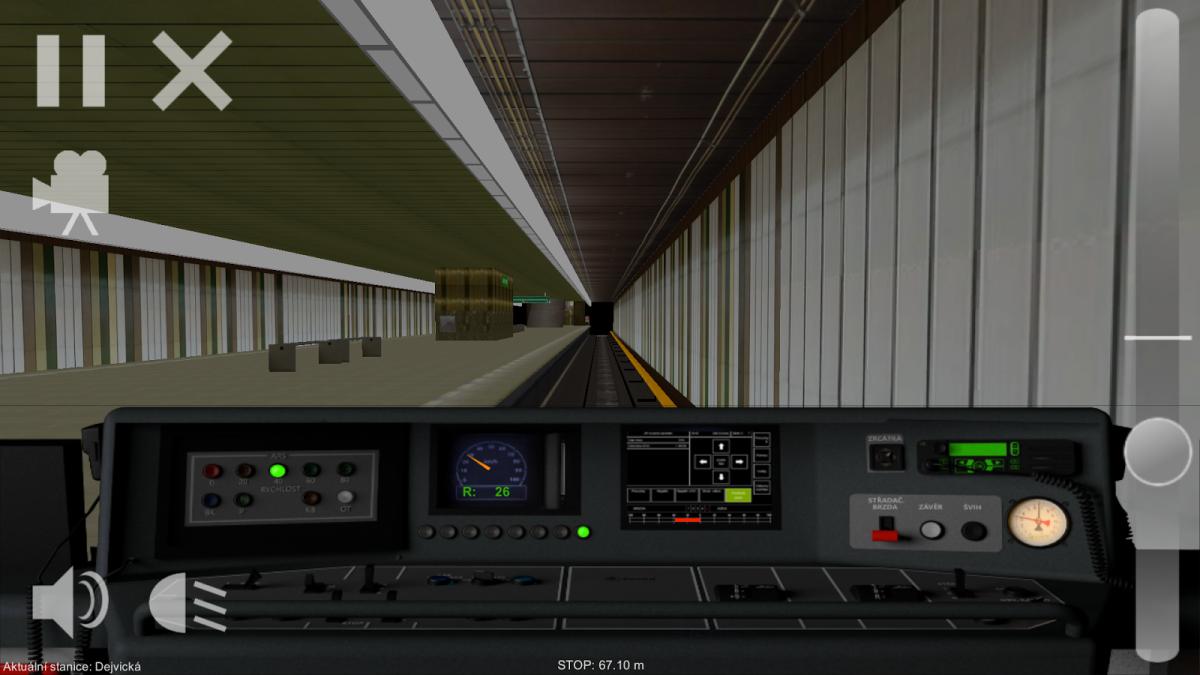 Simulátor pražského metra na Android