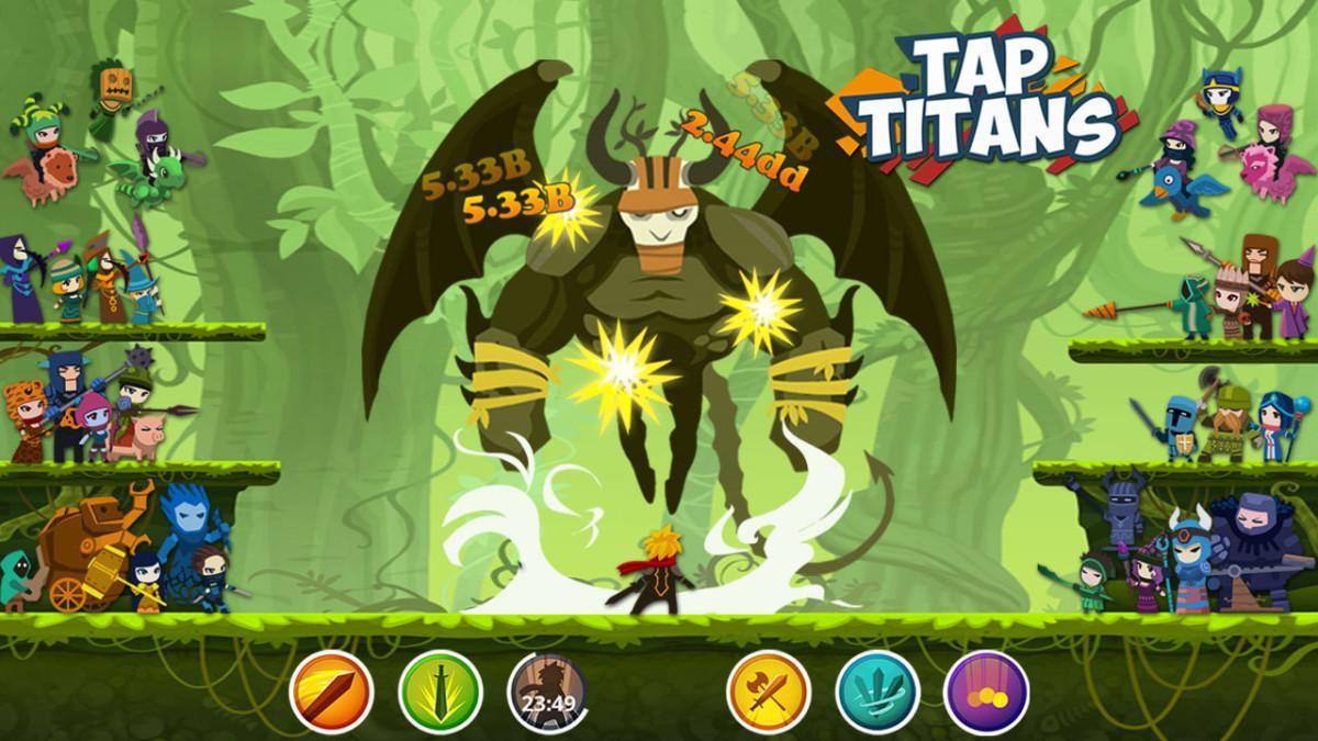 Tap Titans - jednoduchá klikací RPG hra na Android