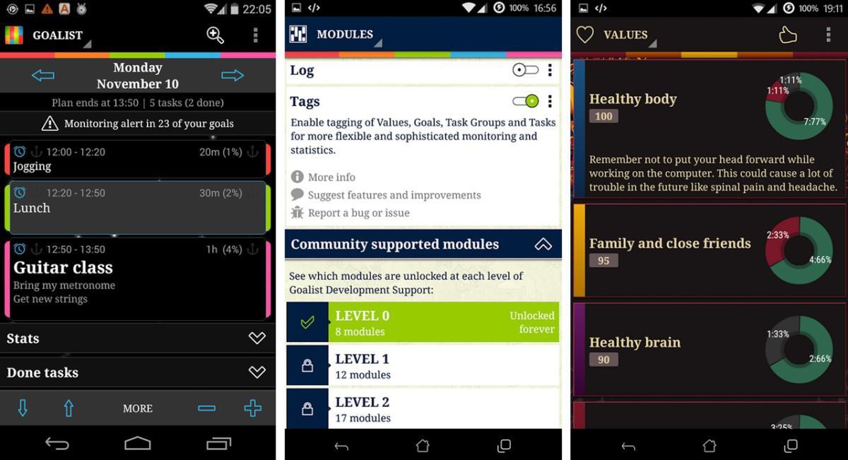 Goalist Daily Planner & Goals - výborný plánovač úkolů a organizér času na Android